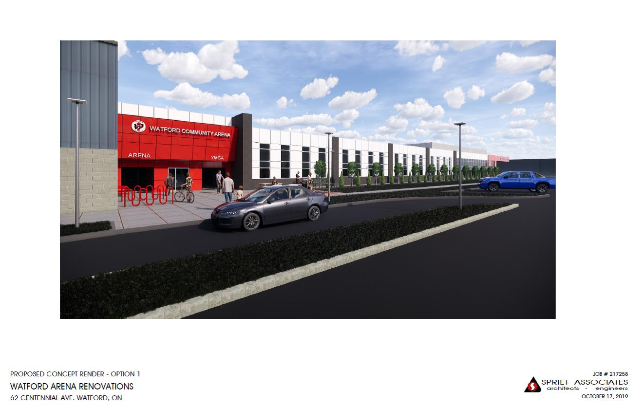 Option 1 - Arena and YMCA Entrance