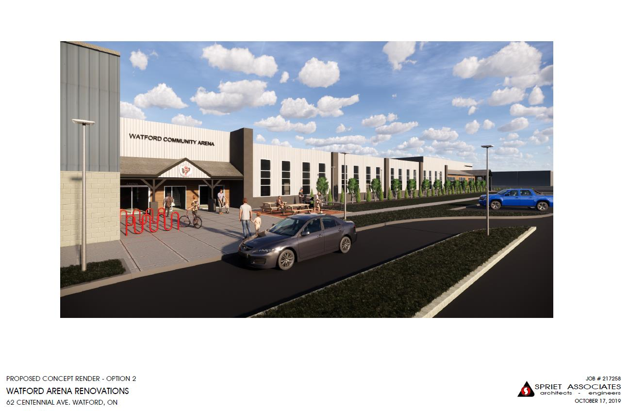 Option 2 - Arena and YMCA Entrance